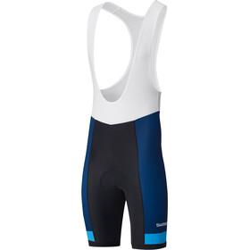 Shimano Team Bib Shorts Heren blauw/zwart